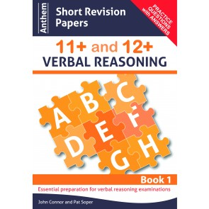 Anthem Short Revision Papers 11+ and 12+ Verbal Reasoning Book 1